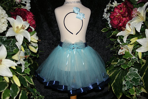 Baby Blue & Navy Ribbon Tutu Skirt