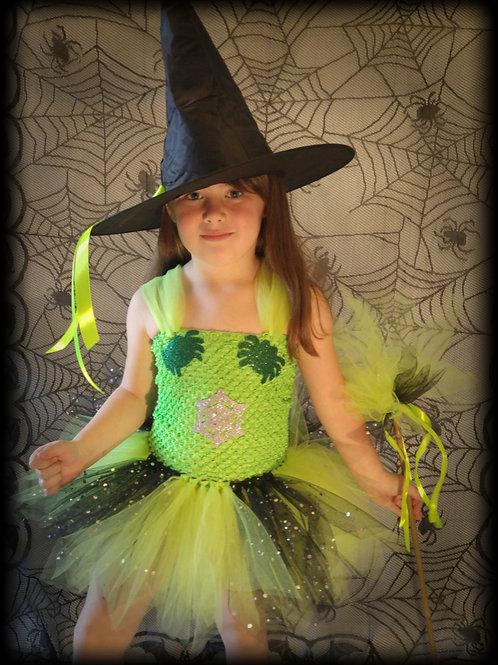 Halloween Spider Witch Tutu Dress