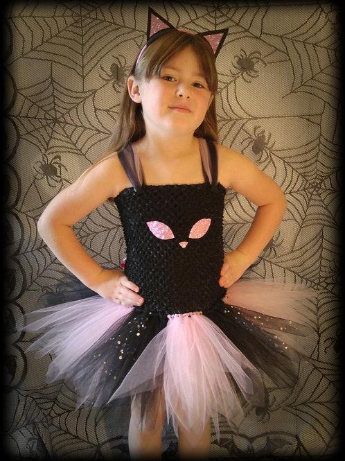 Black & Pink Cat Tutu Dress