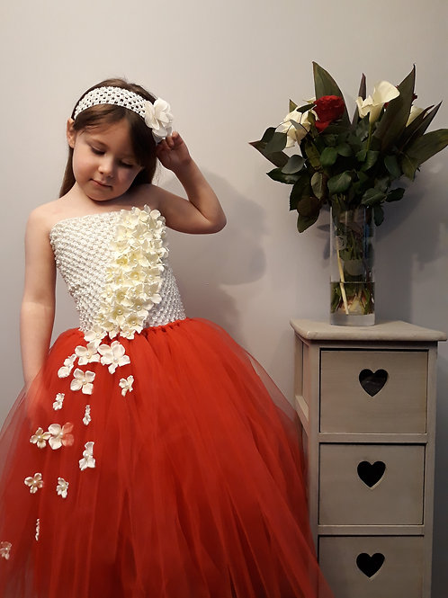 Falling Flowers Flowergirl Tutu Dress
