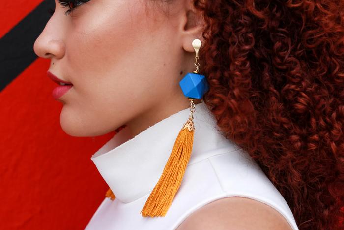 Yellow Tassels Earrings | Aretes de Impacto