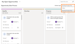 Dynamics 365 wave 1 upgrade april 2020, Kanban view