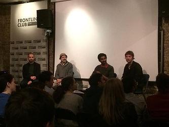 Rainbow Collective, Frontline club, Richard York, Hannan Majid, Mass e bhat,