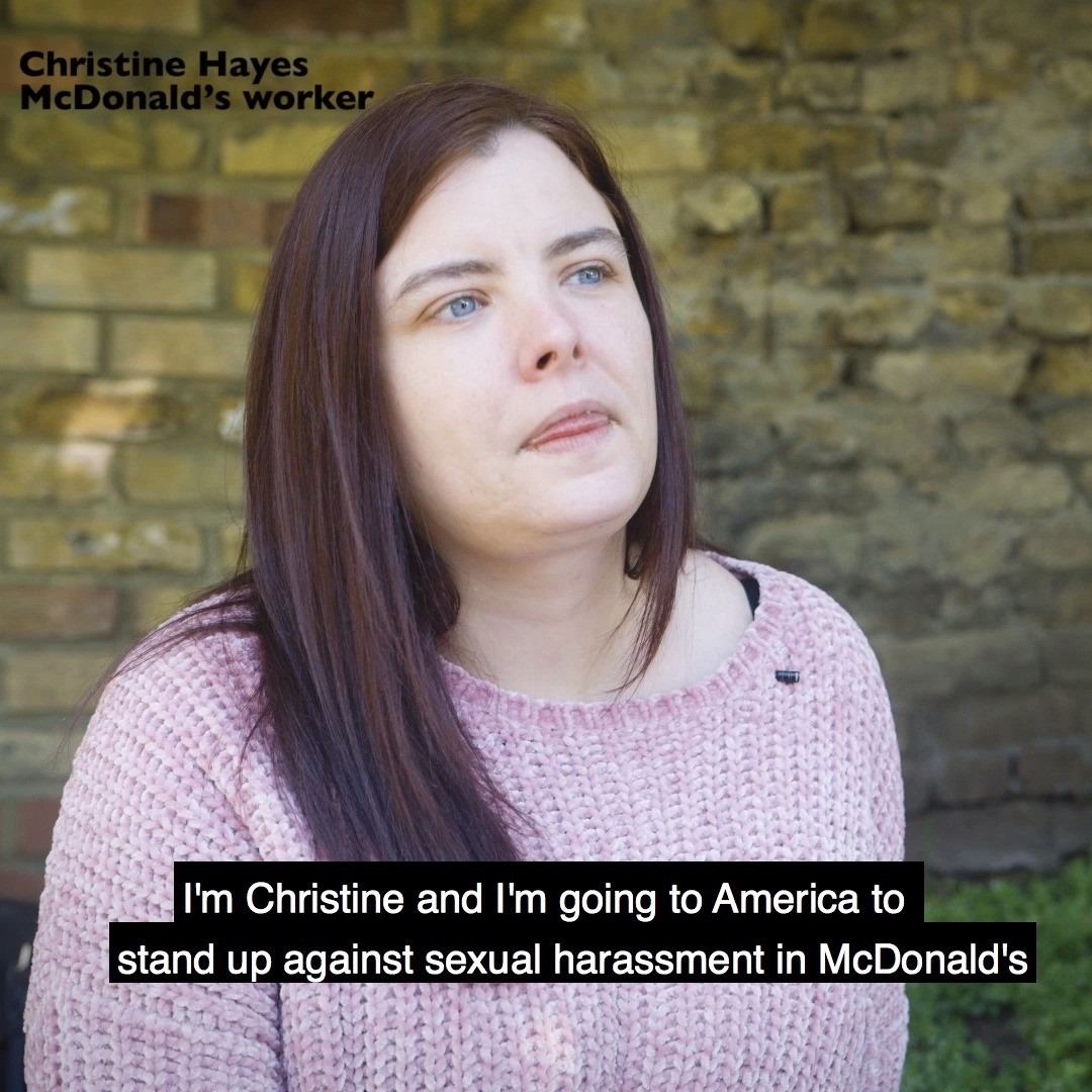 Christine speaks out about sexual harassment at McDonald's