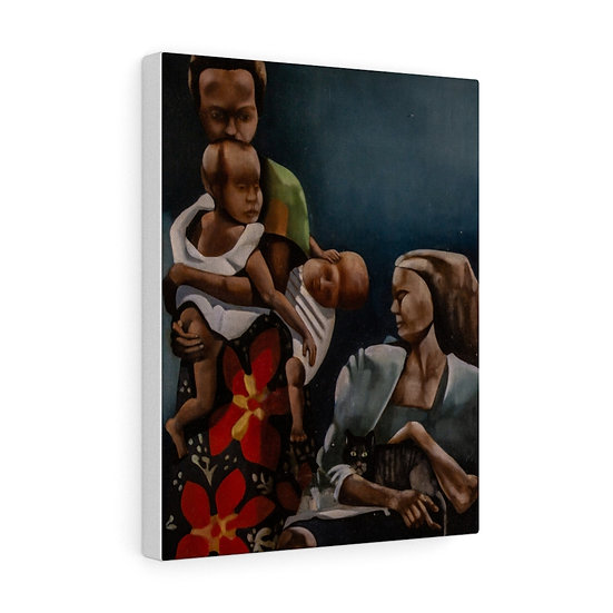 Alfonso Bisson - African Family (unframed)