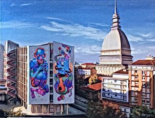 85)_Torino_Università-Mole(olio_su_tela