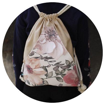 Plecak Worek - Kwiaty.