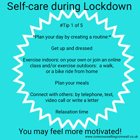 Day 1 of 5 Self-care Lockdown Tips
