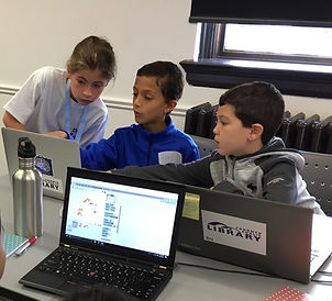 Kid Coding program with Code-it Hacks at Toronto Runymead Public Librry