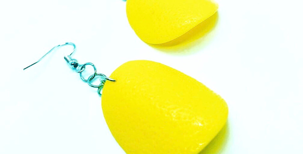 Pringle Inspired Chip Earrings