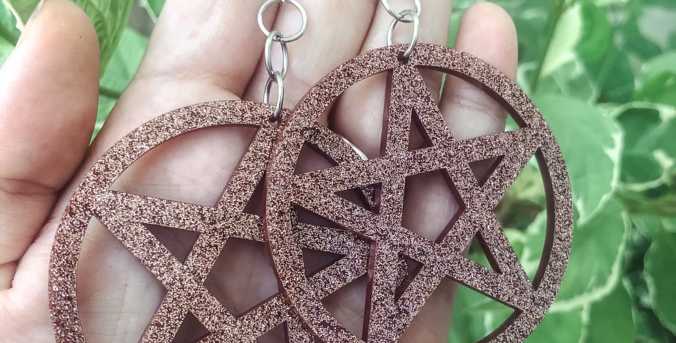 "rose gold ""its witching hour"" earrings"