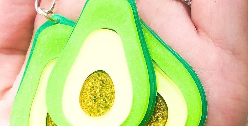 avocado keychain