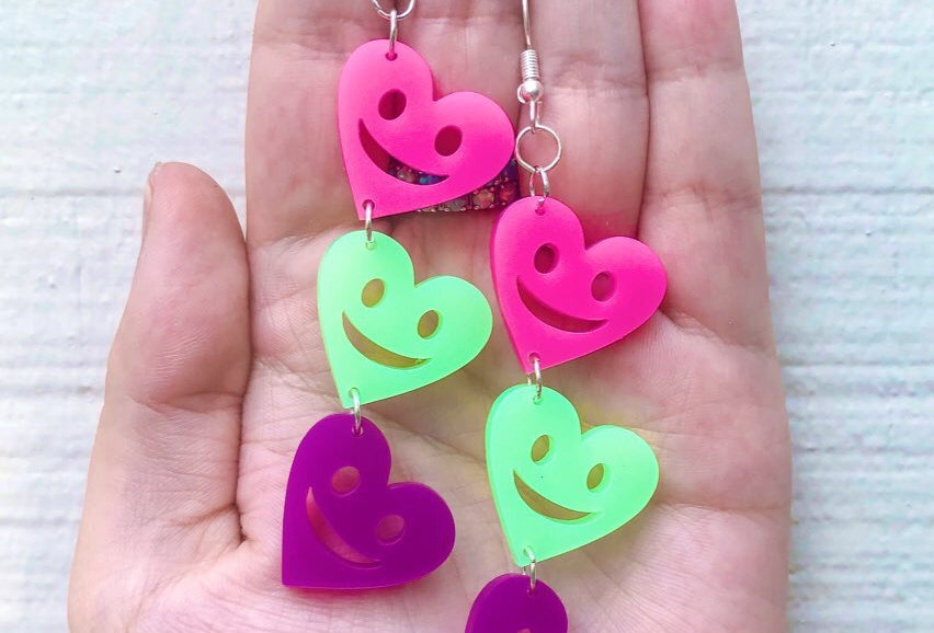 groovy neon hearts