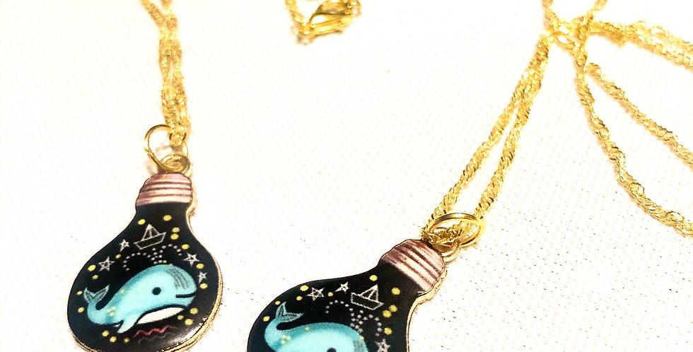 cute whale necklace