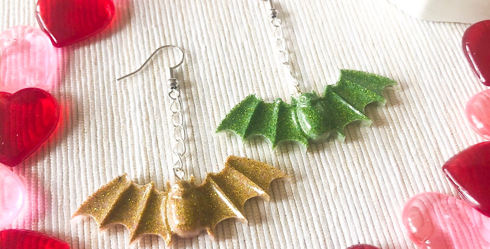 Mojito Bat Earrings