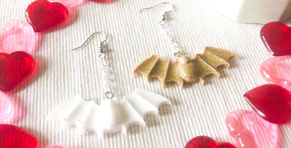 golden hour bat earrings
