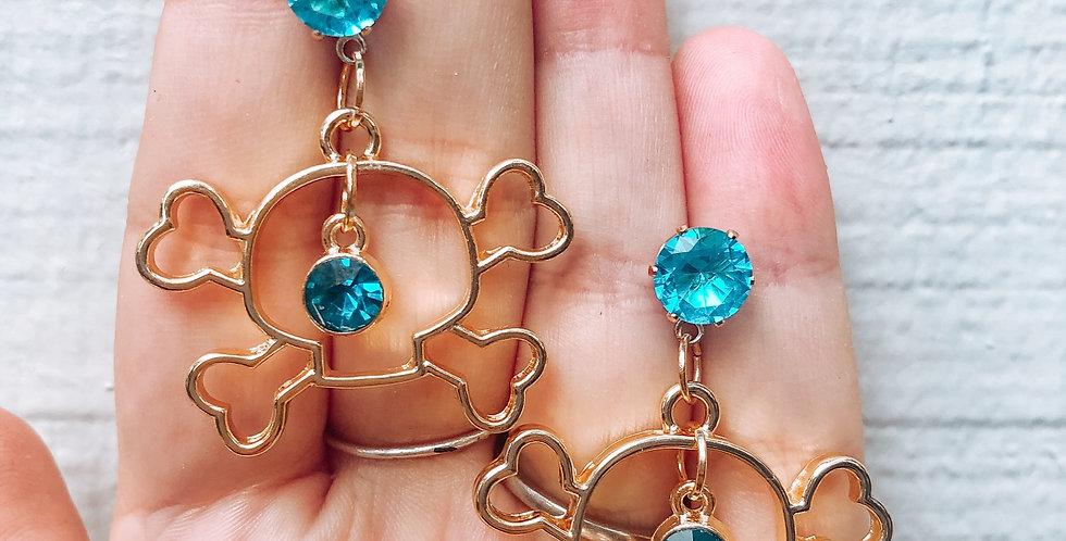 diamond blue skulls