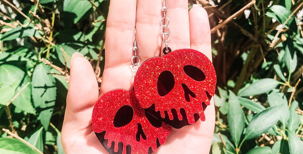 red poison apple earrings
