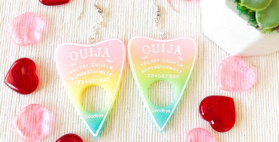 spring ouija planchette earrings