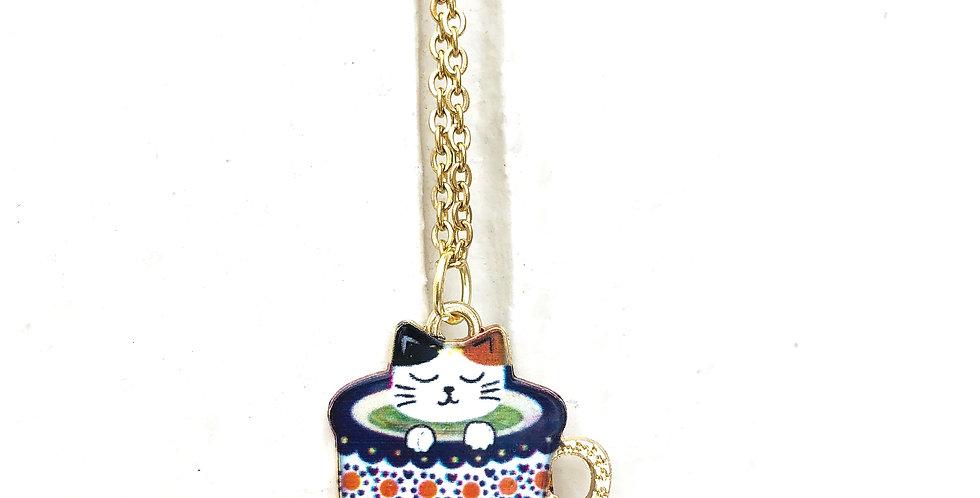 Calico Cat in a Tea Cup