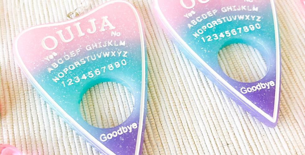 pastel ombre ouija planchette earrings