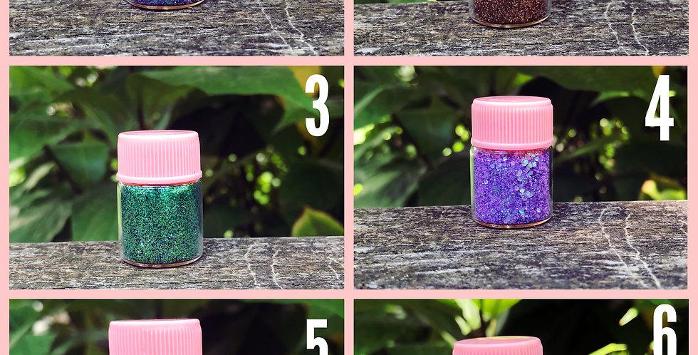 Loose Glitter In 5ML Glass Bottles