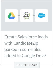 Parse resumes to Salesforce from GoogleDrive
