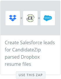 Parse resumes to Salesforce from Dropbox