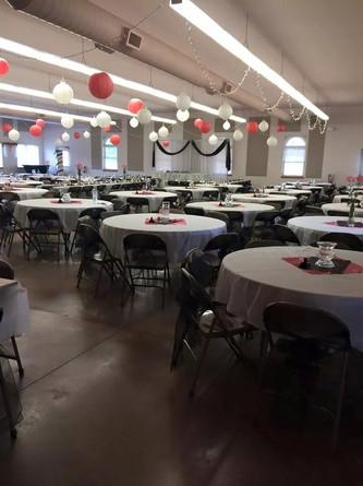 decorated community room