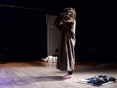 Limitations 10  In Limitations 10, a woman suspended above the floor investigates the permission of her body in space.  What is the access point for her to enter a received story, and how are the limitations for entering it a way to examine the values of the epic journey?  Through poetic monologue and idiosyncratic movement vocabulary she may decide to bring the world closer to her, to absorb it, and to work to towards an always unfinished process towards desire, sexual identity, knowledge, and belonging.  Photo credit: Jim Coleman