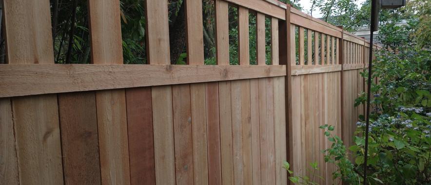 Alternating Cedar 6' and 8' Fence