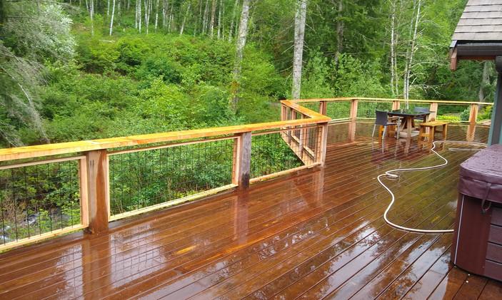 Ipe and Cedar Deck