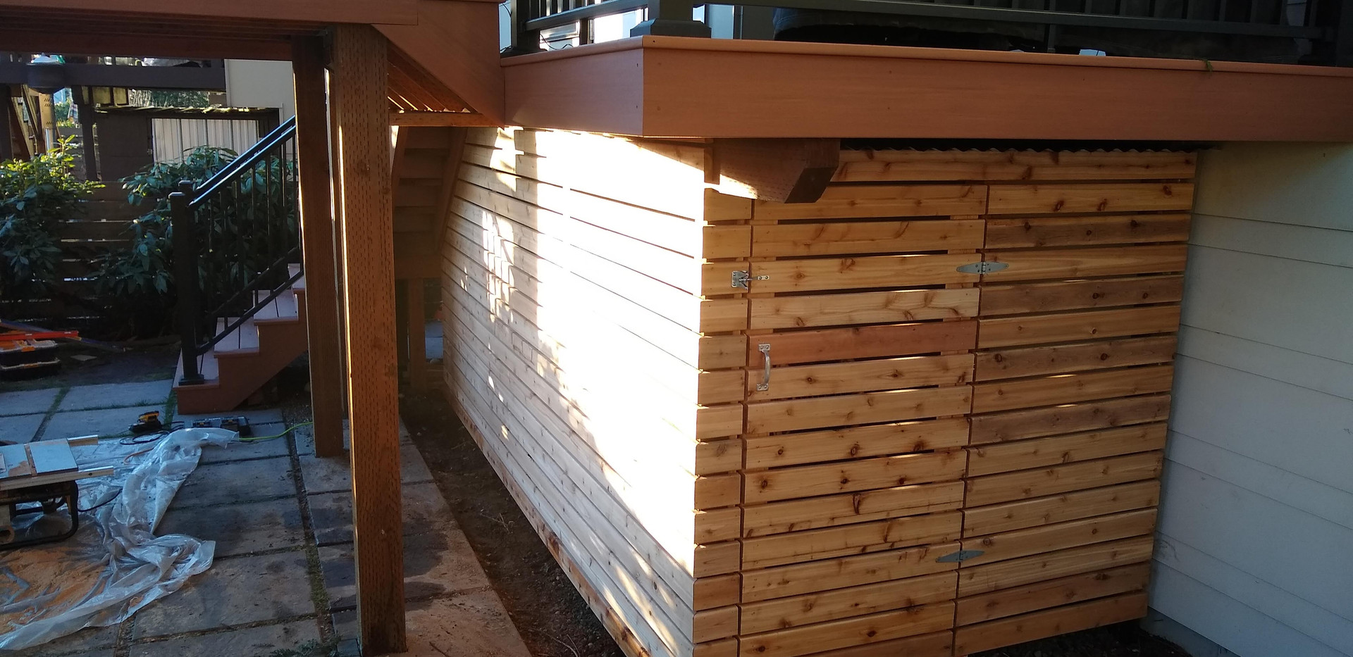 Cedar Shed side view