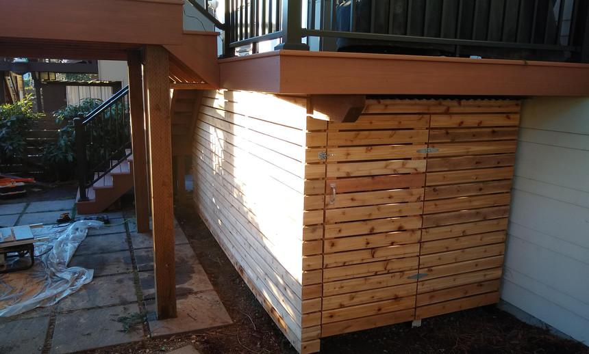 Cedar Shed side view