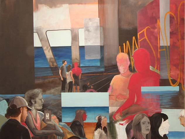 A place to speak and nothing to say Ryan Hatfield Oil on canvas 183cm x 198cm