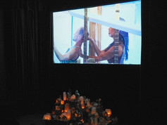 Installation view of Sonnet of Deux Aughts and City on the Hill from The Home is You Museum