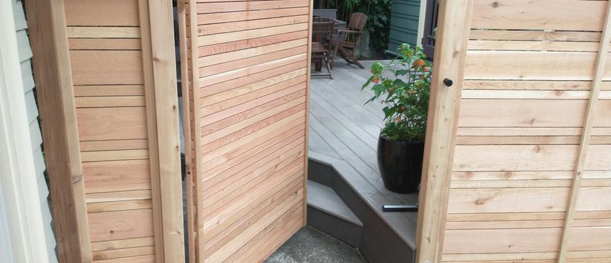 Alternating Cedar Fence