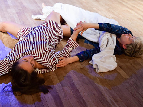 sleep study is our tender exploration of the mundane touch and spatial relations shared with a partner during the 8 (ish) profound hours of the day that go mostly unobserved.  Photo Credit: Jim Coleman