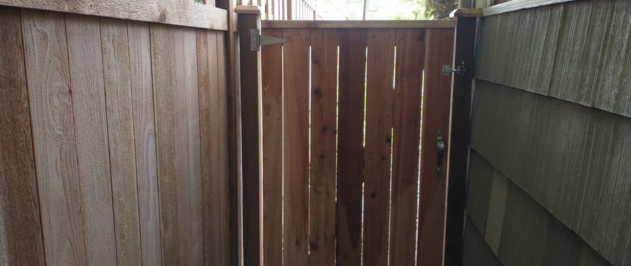 Cedar Side gate