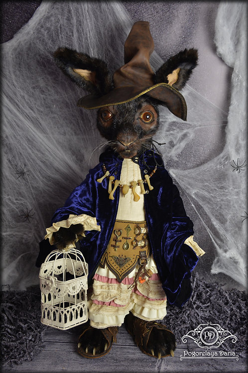 Rabbit, hare, witch, living toy, realistic work, art