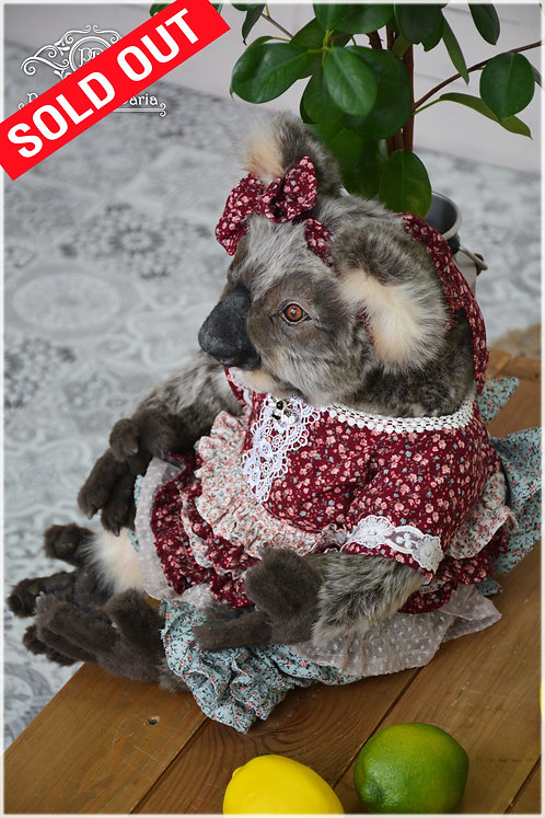Koala, bear, koala girl, eucalyptus, live toy, Australia, interior toy, Koala girl