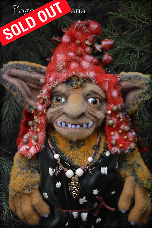gremlin, monster, dwarf, fantasy, fantasy toys, monster, elf, handmade toy, collector, interior ooak, animals, pet, forest, e