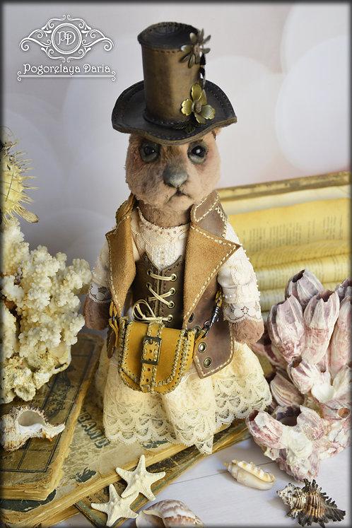 Teddy bear, steampunk bear, bear girl, vintage bear