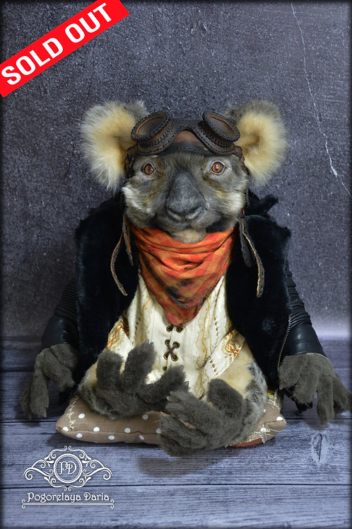 Koala Ernest, pilot, animal, a living toy, collectible toys and art