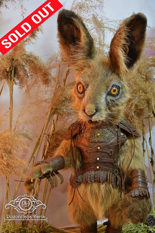Hare, rabbit, collectible toy, hare knight