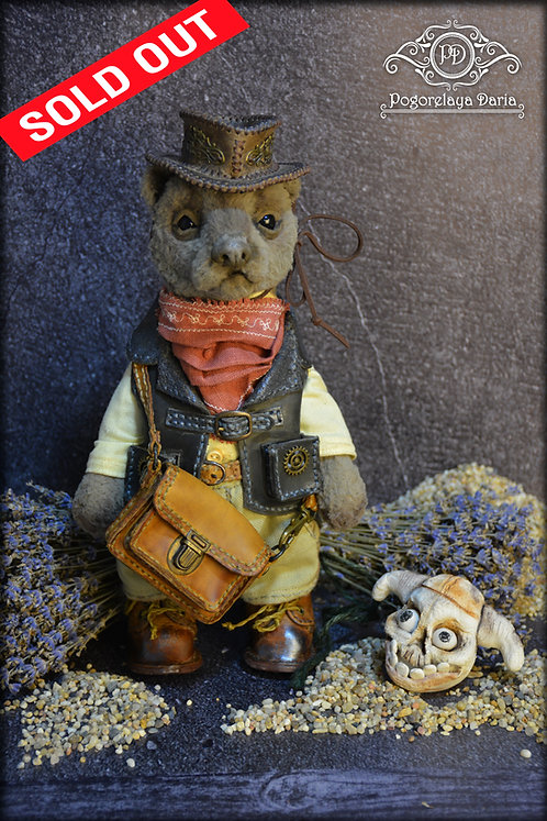 Teddy bear, steampunk bear, handmade toy, teddy bear