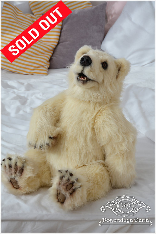 Bear, polar bear, toy, handmade toy, collector bear, interior, handmade, my work, ooak, animals, pet, forest, nature
