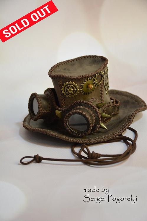 Hat, steampunk, leather goods, steampunk accessories