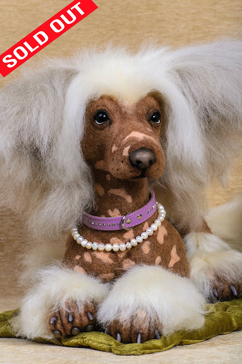Dog, Puppy, Pet, Friend, Chinese Crested, toy, handmade toy, collector, interior, handmade, ooak, animals, pets