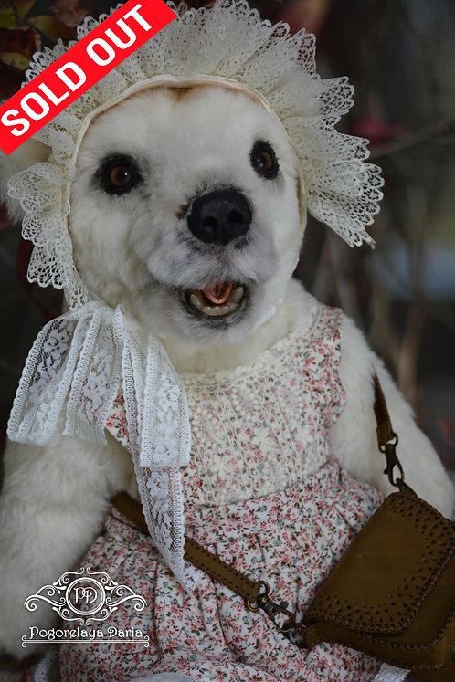 Bear polar bear polar bear animals live toy collectible toy handmade girl dress